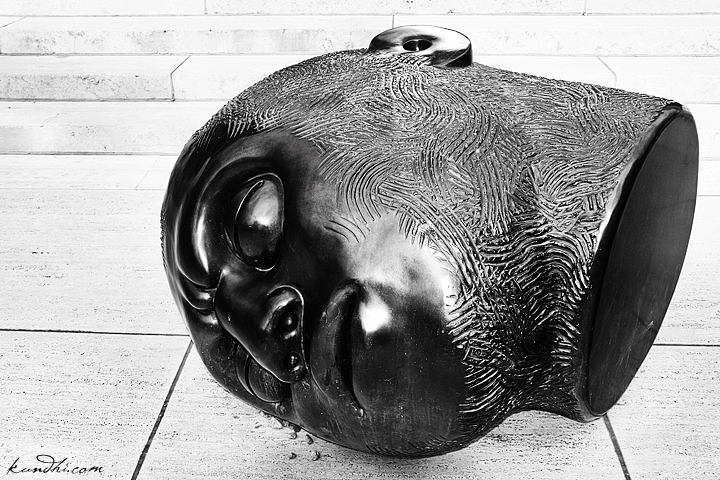 black and white sculpture