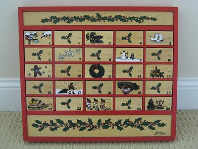 wooden advent calendar ll bean
