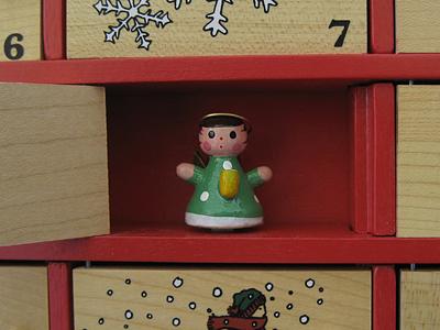 wooden advent calendar l.l. bean