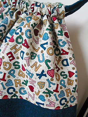 drawstring back pack with lining