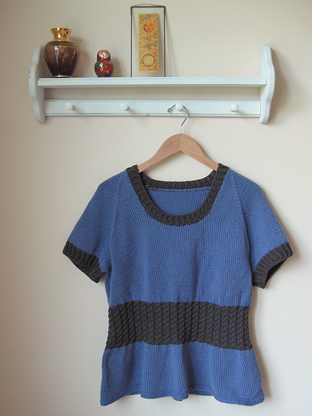 blue sweater unravel