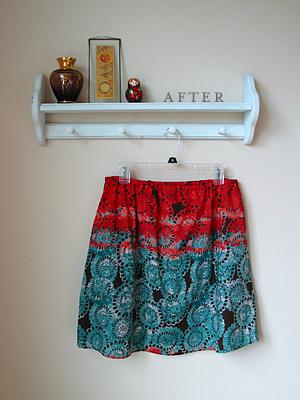 circle print skirt