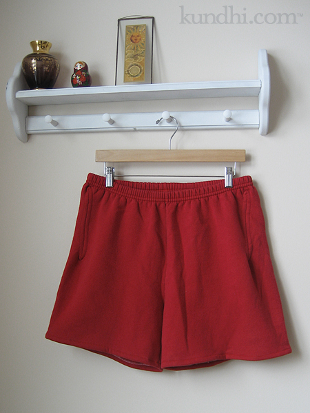wardrobe refashion comfy sweat shorts