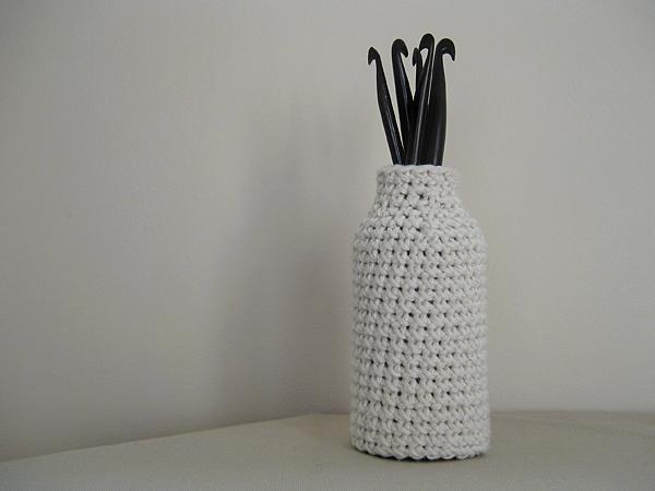 cotton crochet bottle