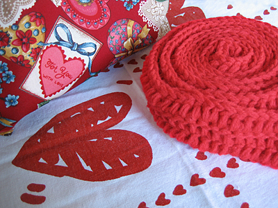 scarf, bunting and zipper bag