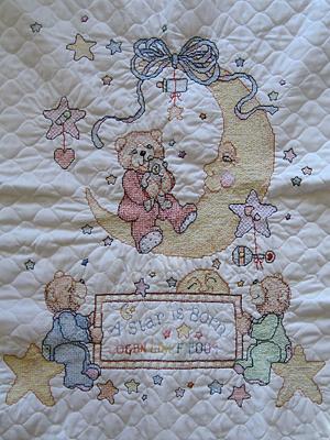 cross stitch baby blanket