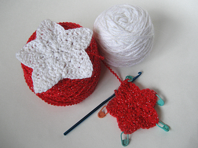 crochet holiday star garland