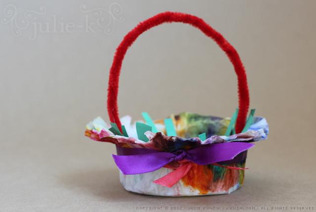 coffee filter easter basket