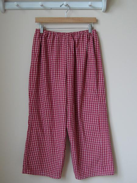 wardrobe refashion: resized pajama pants