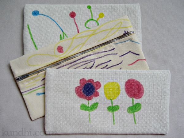 tutorial fabric marker artwork on sewing gifts