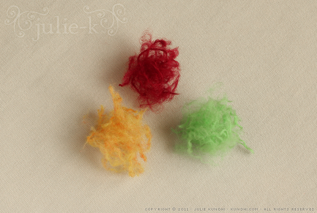 how to make felted beads from leftover wool yarn