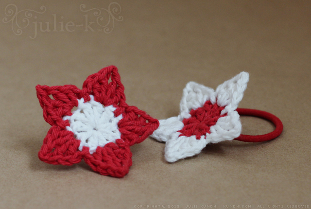 crochet flower hair ties