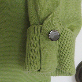 green cardigan refashion
