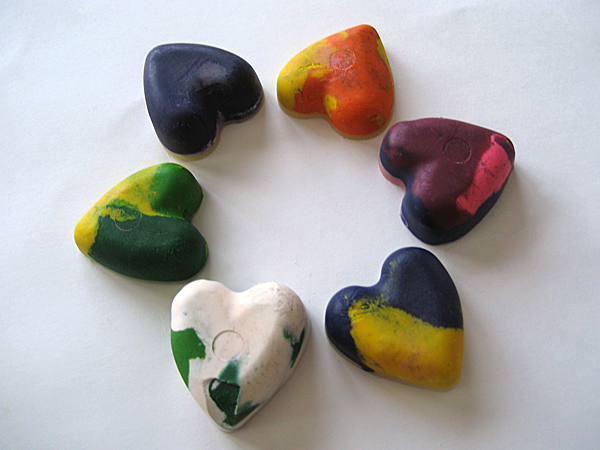 microwave heart crayons