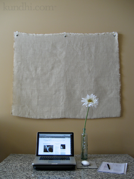 faux coffee bean bag sack wall bulletin board