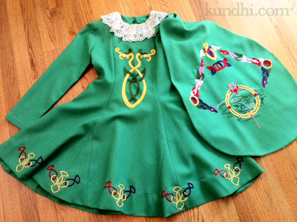 Irish dancing costume