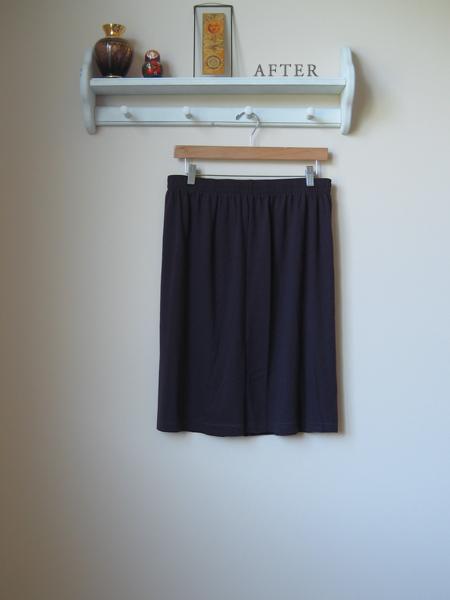 wardrobe refashion hem jersey skirt easy