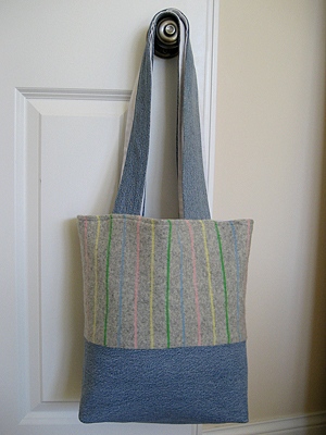 denim sweater bag