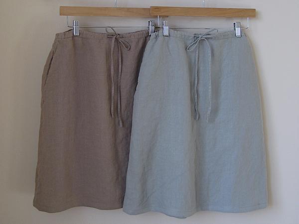 laura ashley linen skirts