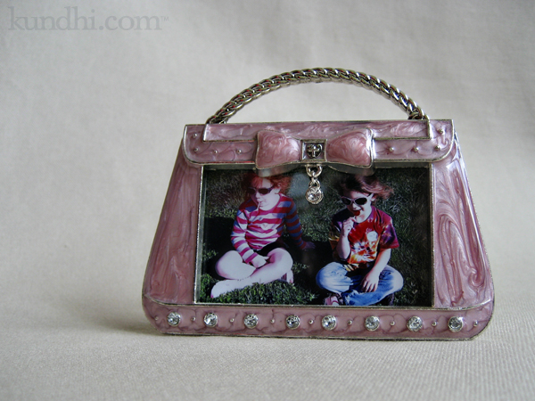 pink purse picture frame