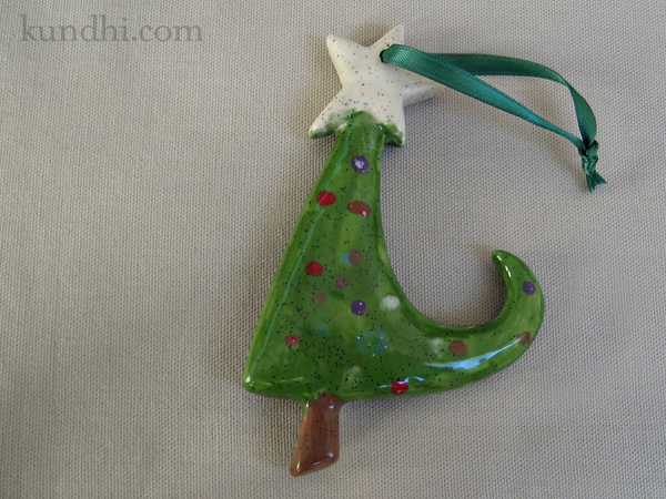 paint yourself silly christmas tree ornament