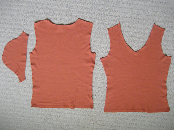 t-shirt pattern pieces