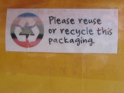 reuse recycle envelope labels
