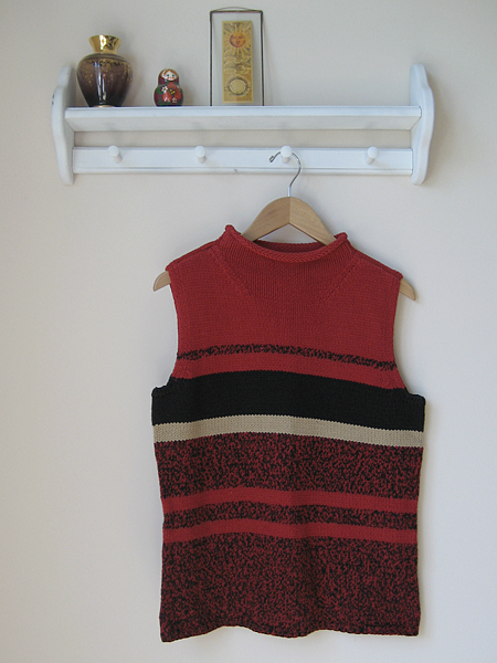 red sweater for unraveling