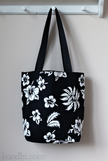 refashioned conference tote bag