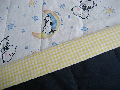 sleeping snoopy baby quilt