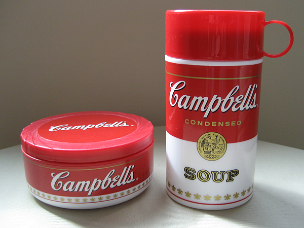 retro campbell's soup thermos