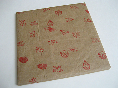 handmade eco-friendly wrapping paper