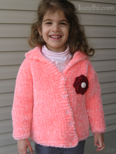 pink hand knit sweater