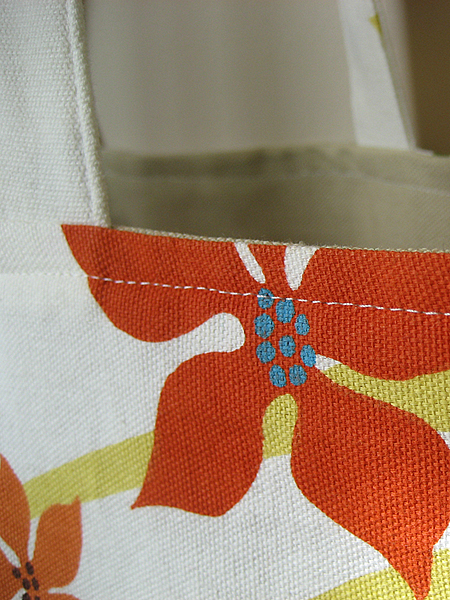 tablecloth beach tote