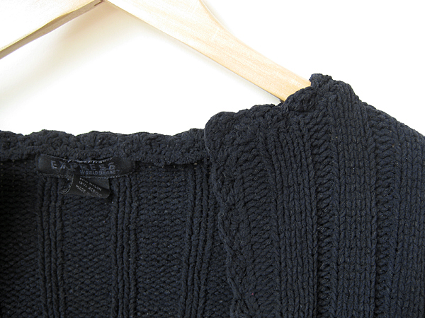 how to: turtleneck sweater turns cardigan in 5 easy steps