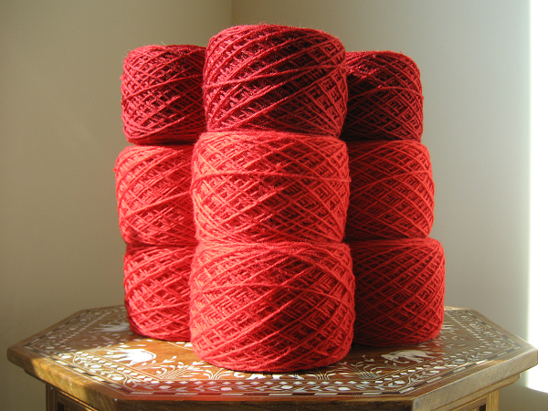 unraveled tablecloth yarn
