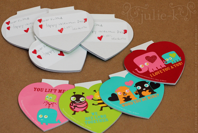 valentine card notepads