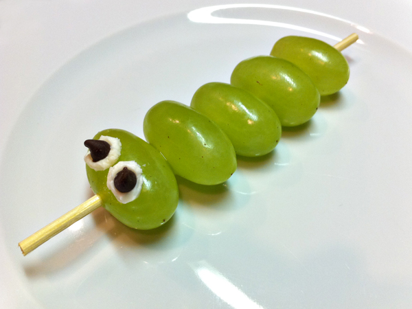 caterpillar grape kabob